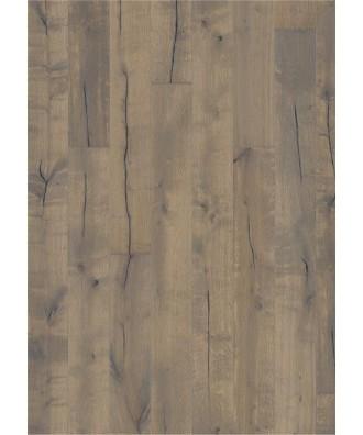 Kahrs parkett Eik Handbørd håndskrapet, børstet, sagmerker, faset, farget olje. 15x187x2420mm