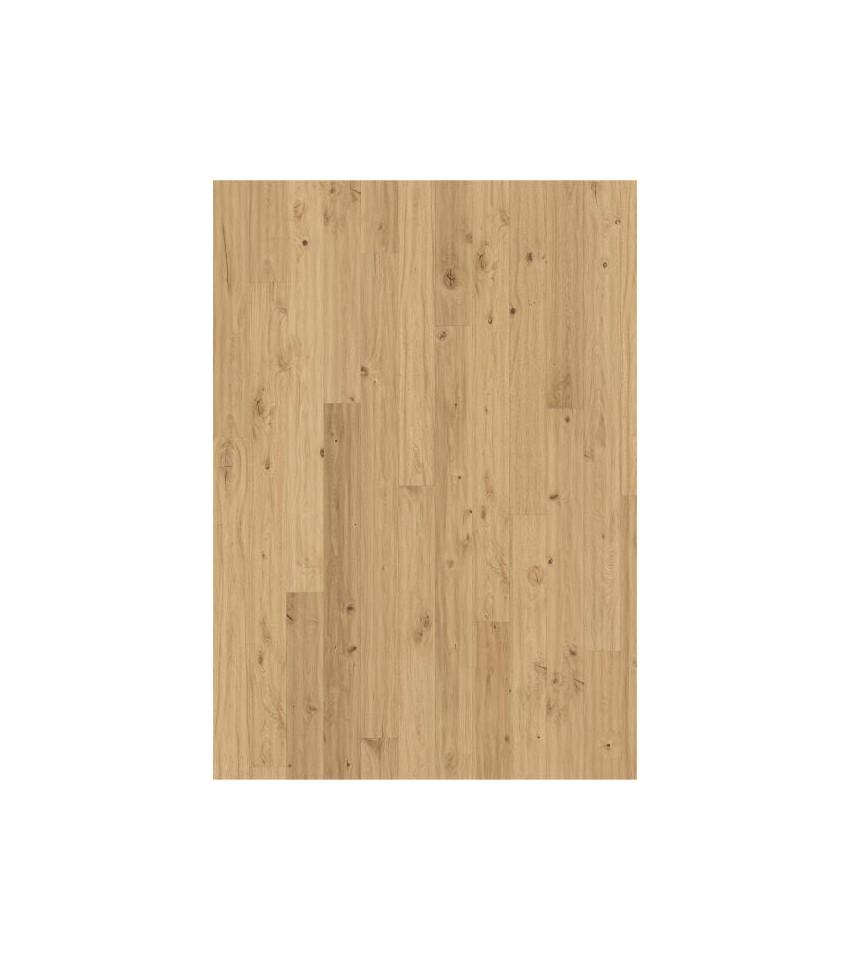 Kahrs parkett Eik Klinta håndskrapet, børstet, faset, oljet, hvit. 15x187x2420mm. Svanemerket