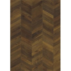 PARKETT 15 EIK CHEVRON DARK BROWN